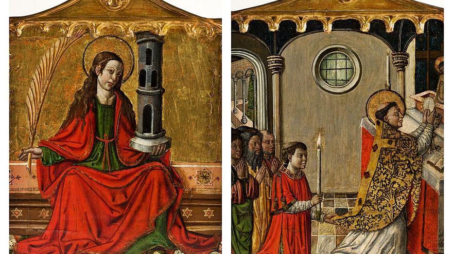 Los retablos atribuidos al Maestro de Xàtiva se venden por 28.000 euros