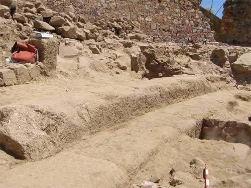 Graderío del teatro romano de Medellín