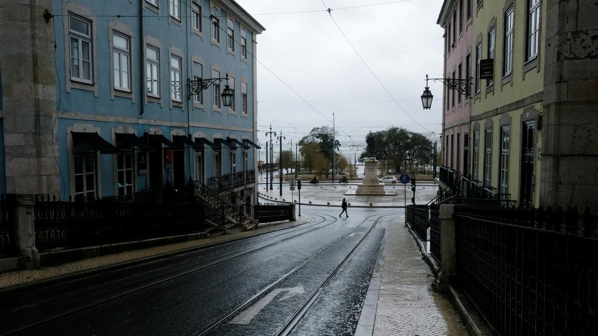 Las calles de Lisboa, desiertas en pleno estado de emergencia en Portugal