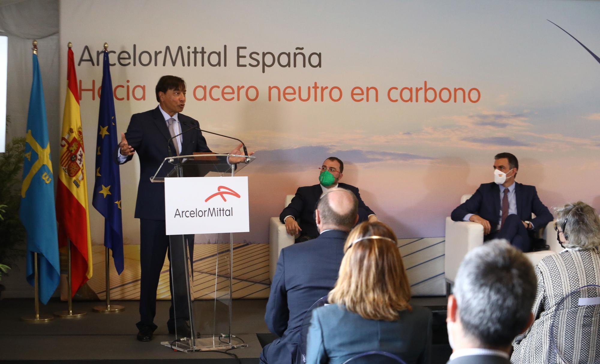 Visita de Pedro Sánchez s ArcelorMittal