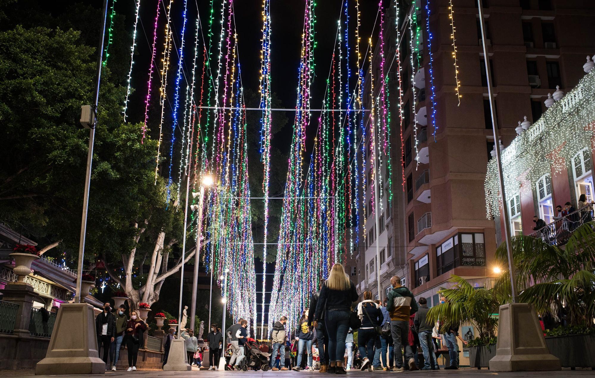 Encendido del alumbrado navideño en Santa Cruz de Tenerife