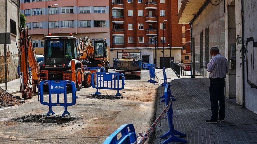 El Ayuntamiento de Zamora consolida la tubería rota en Campo de Marte