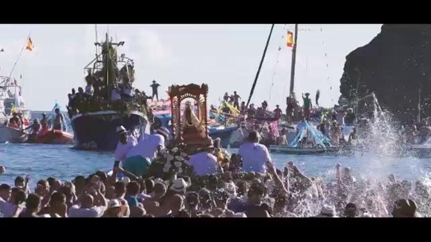 Chácara y tambor para honrar a la Morenita de Puntallana
