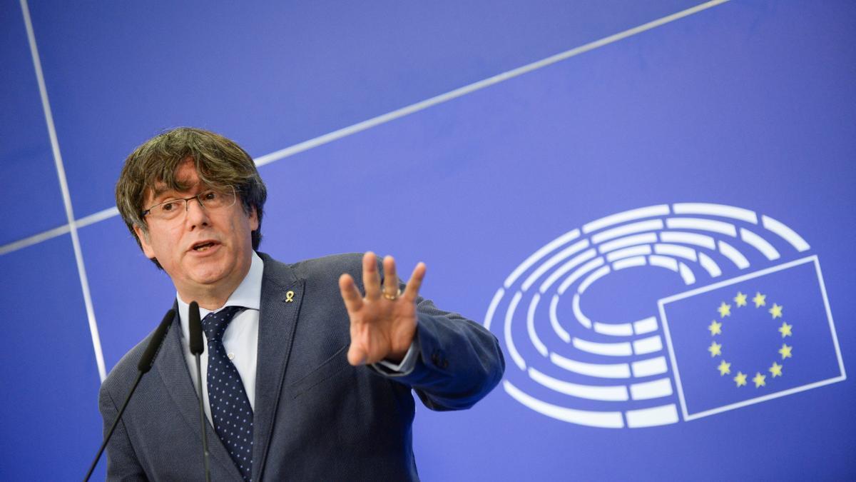 Carles Puigdemont, en Bruselas
