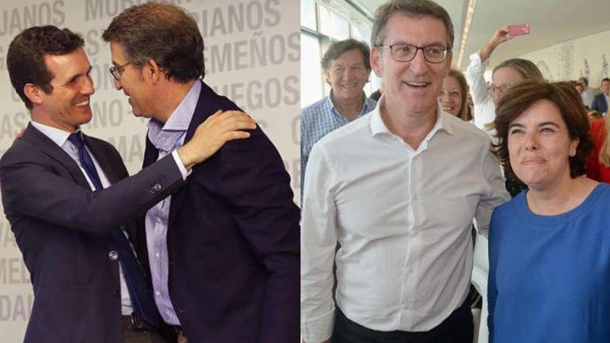Santamaría y Casado cortejan a Feijóo