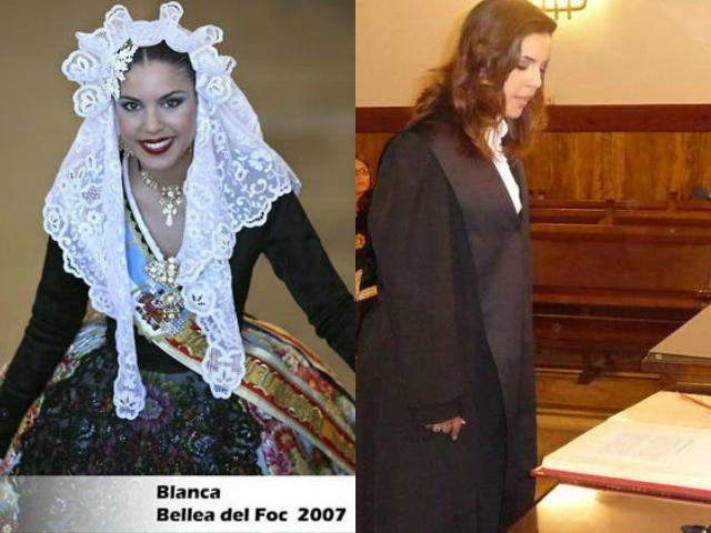Blanca Ortiz Díaz, Bellea del Foc de 2007, juró como juez sustituta en el Tribunal Superior de Justicia (TSJ) de Valencia y trabajó en juzgados de Alicante.