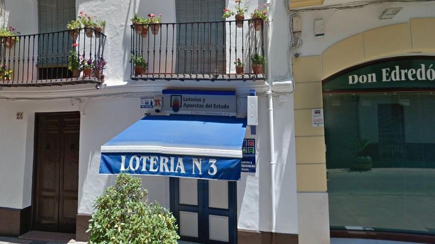 El segundo premio de la Lotería toca en Antequera