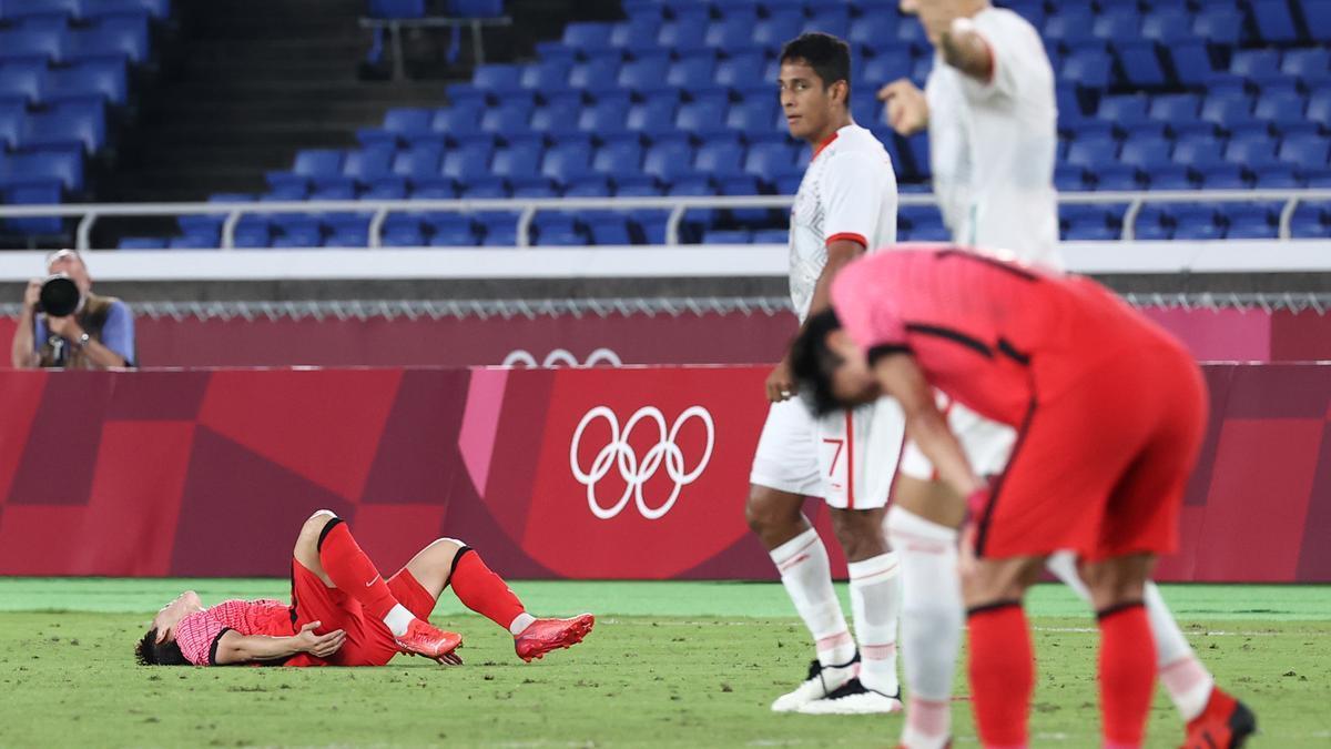 Los surcoreanos, derrotados tas el partido