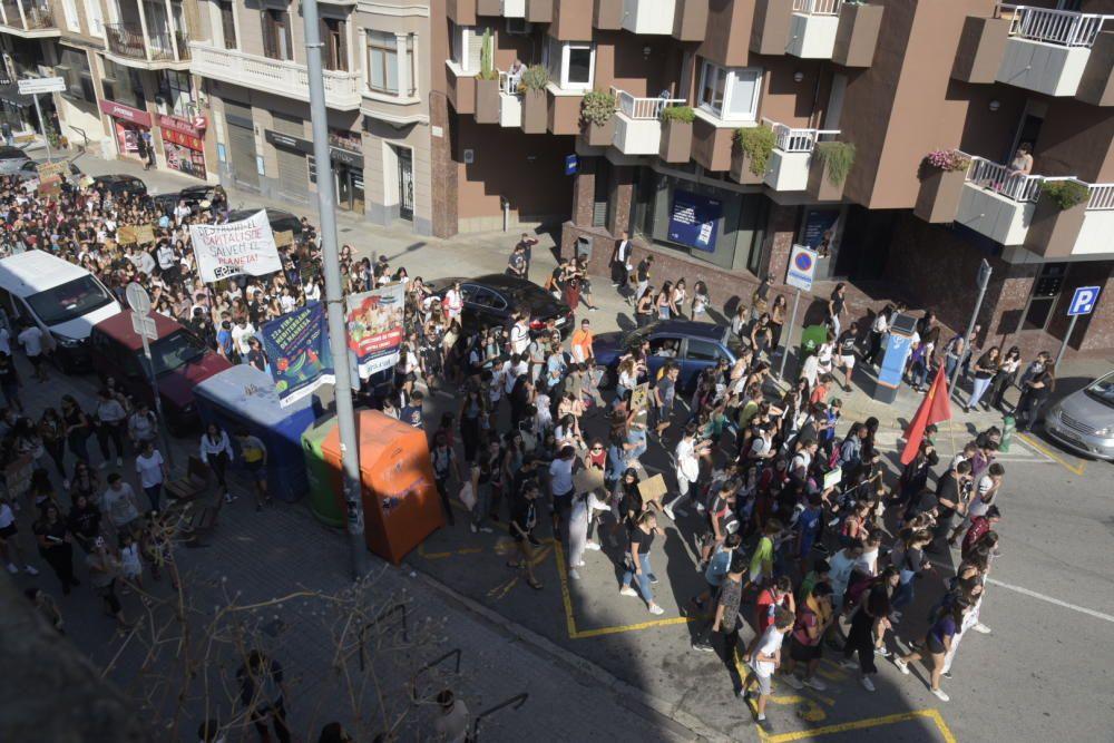 Manifestació d'estudiants a Manresa per la crisi climàtica