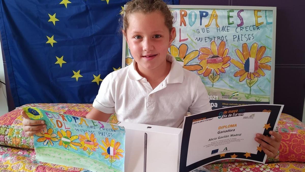 La alumna Alicia Gavilán, de 1º de Primaria del CEIP Colón.