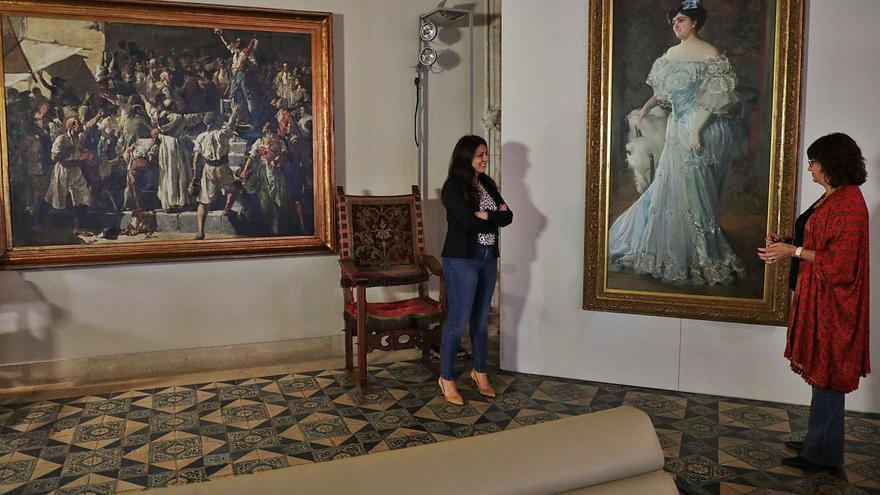 Sorolla y Baeza se instalan  en el Palau de la Generalitat