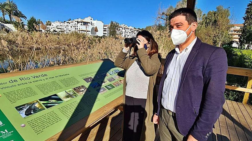 Habilitan un observatorio ornitológico en la Senda Litoral