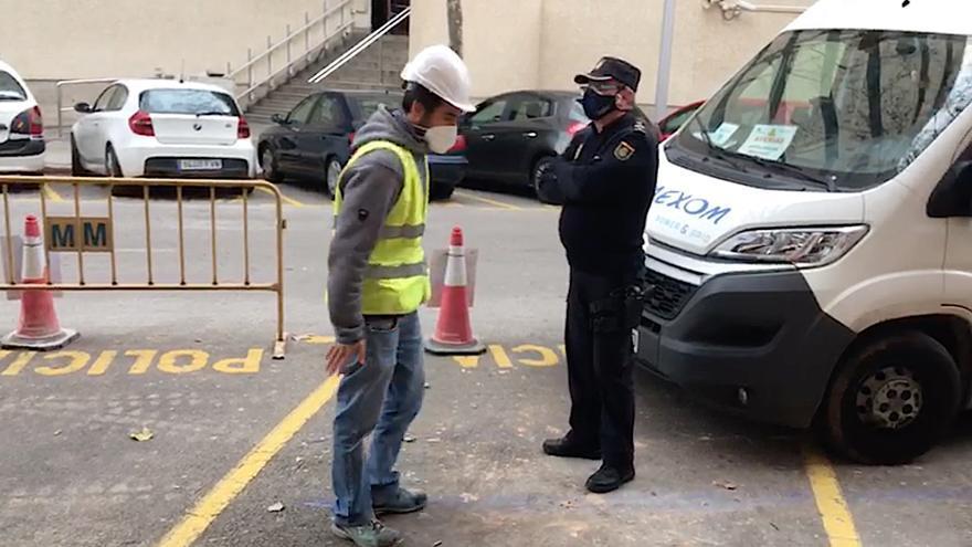 Herido grave un trabajador al sufrir una descarga eléctrica en Palma