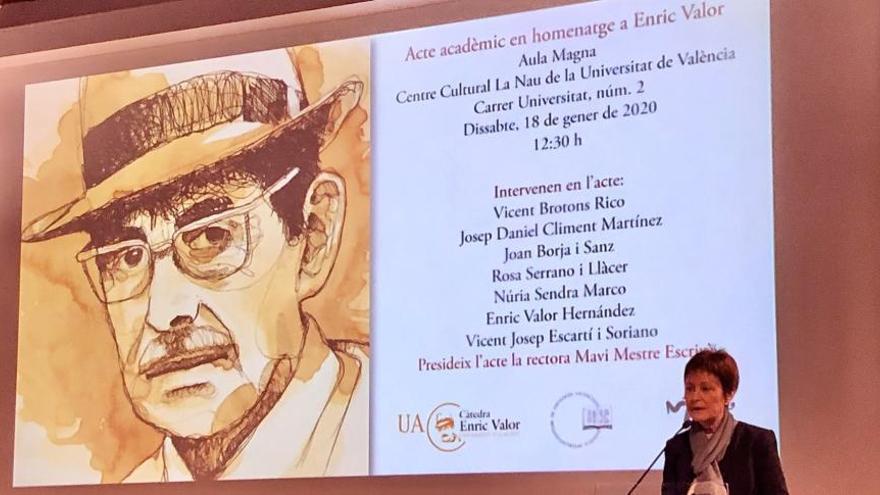 La UV acull un homenatge a Enric Valor