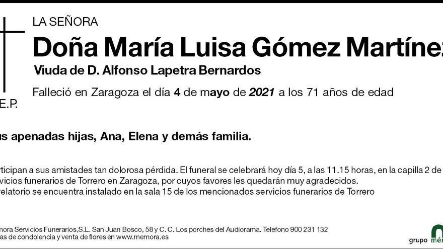 María Luisa Gómez Martínez
