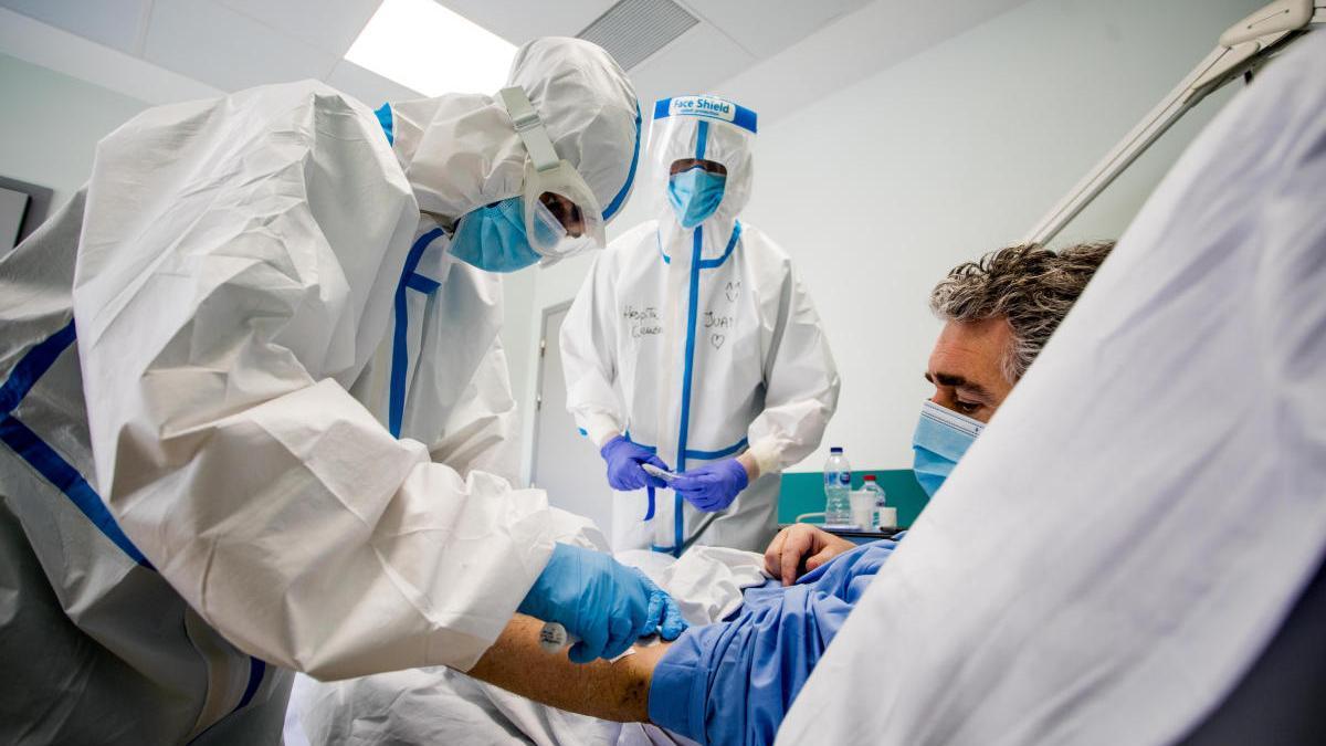 Salas Covid del Hospital General de Valencia.