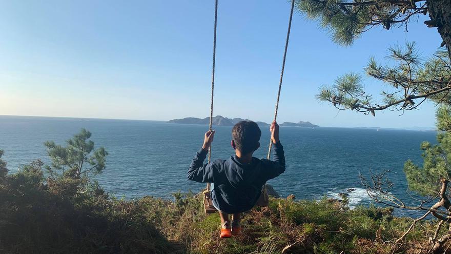 Un columpio en Monteferro con vistas al paraíso