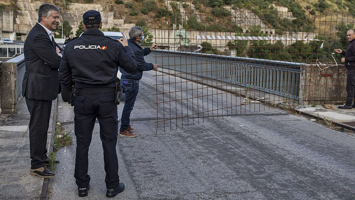 Apertura de la frontera entre Zamora y Portugal por Miranda do Douro tras el confinamiento.