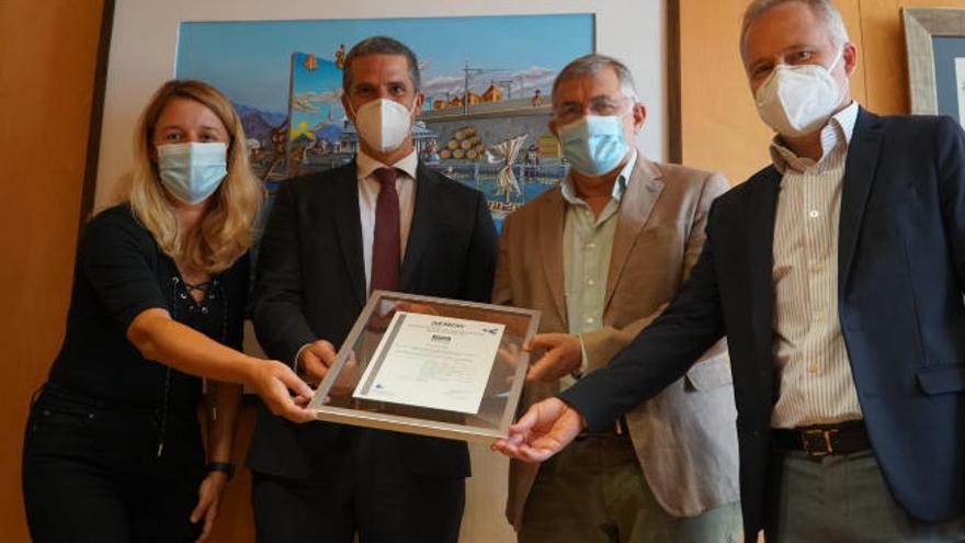 Puertos de Tenerife, certificado en gestión de riesgos frente al Covid 19