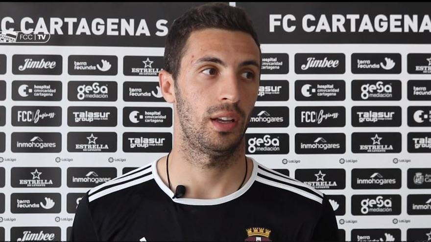Aburjania, jugador del FC Cartagena, analiza el partido ante la UD Las Palmas