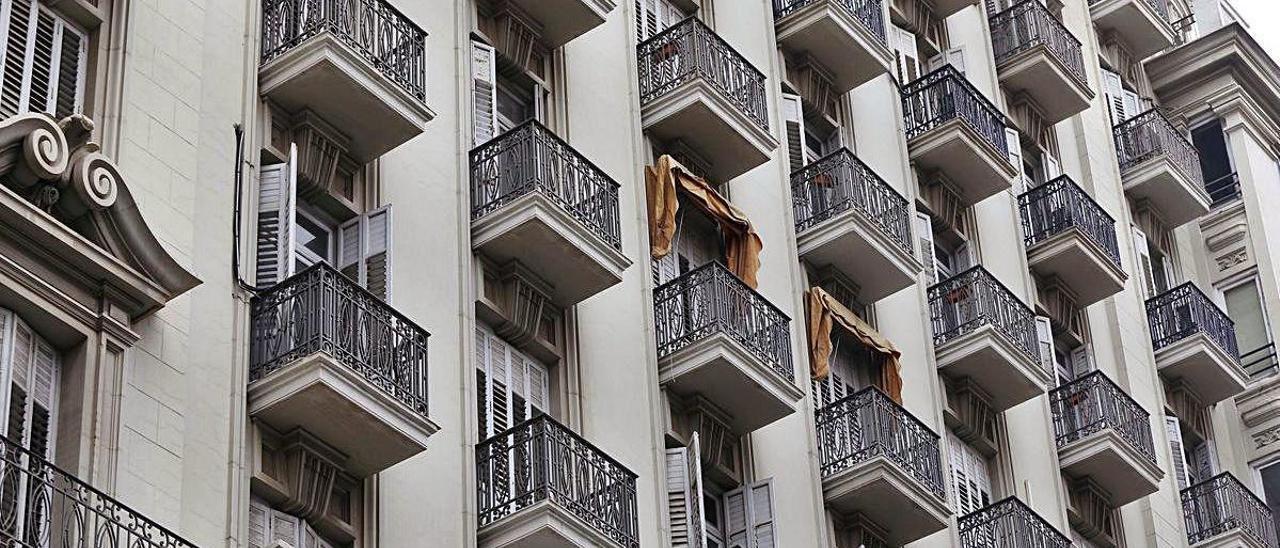 Viviendas situadas en el centro de València.
