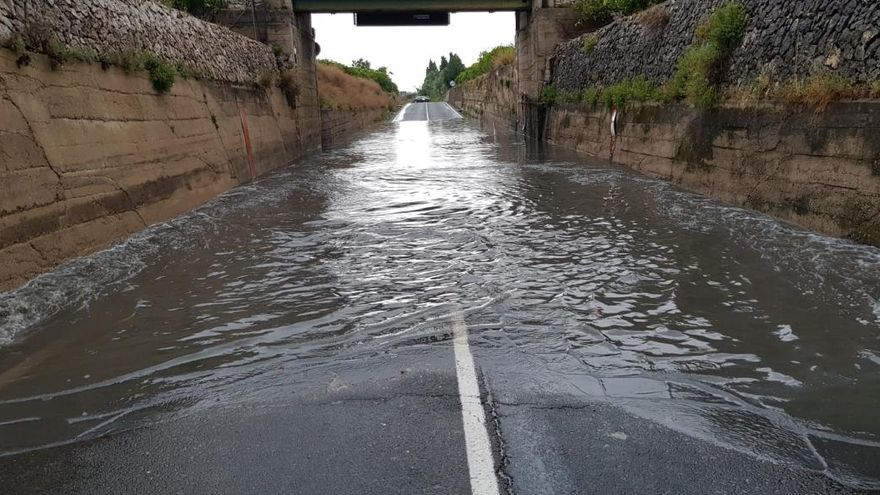 Las lluvias dejan más de cien litros por metro cuadrado en El Comptat y la Marina Alta