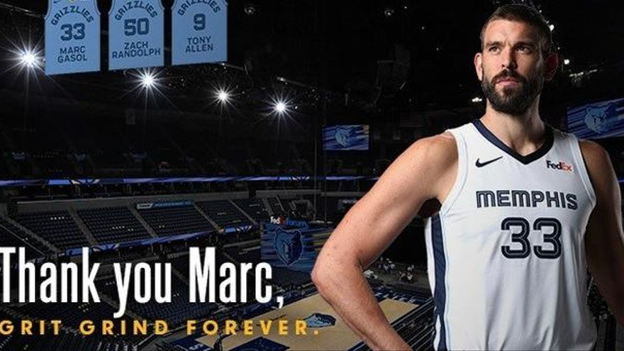 Los Grizzlies retirarán la camiseta de Marc Gasol