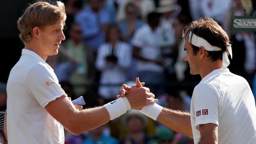 Anderson apea a Federer de Wimbledon