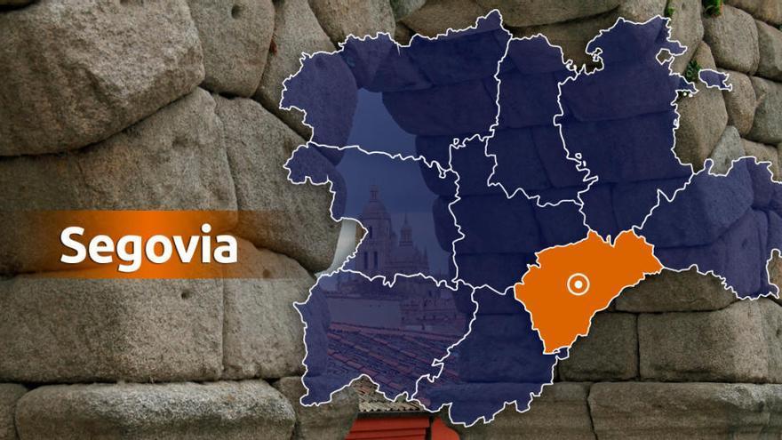 La nieve corta la A-1 en Segovia y en Aranda de Duero (Burgos) y obliga a embolsar camiones