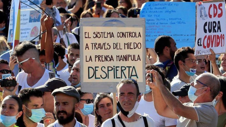 Habrá duras sanciones por la protesta antimascarillas