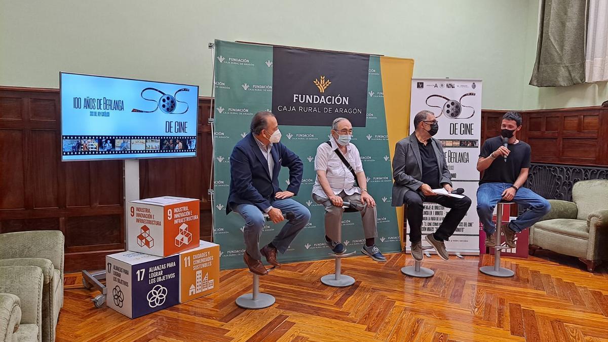 El programa '100 años de Berlanga' se ha presentado esta mañana en la Caja Rural de Aragón.