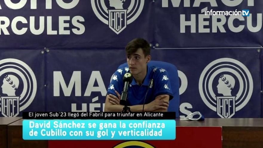 David Sánchez es el protagonista de la semana con su primer gol que vale tres puntos