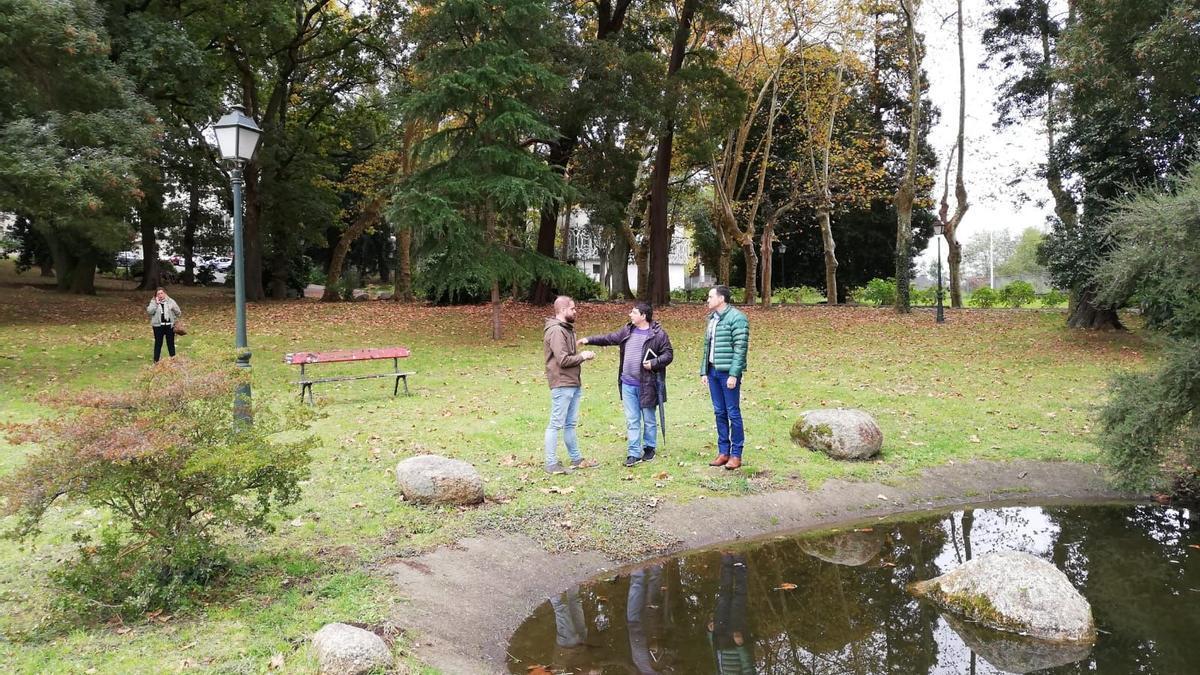 Una imagen del parque de la Uned en Monte Porreiro