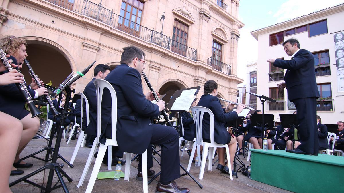 Un concierto de bandas de música en Castelló (archivo)