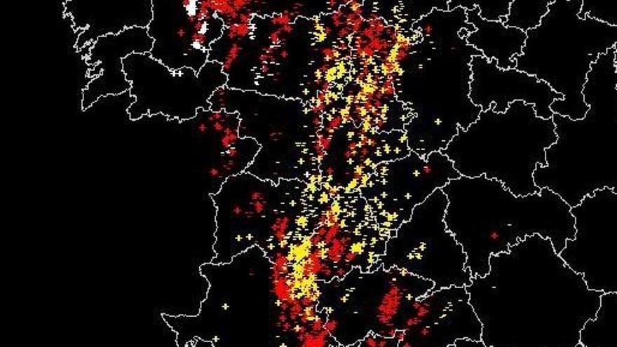 Las tormentas en Zamora dejaron más de medio centenar de rayos