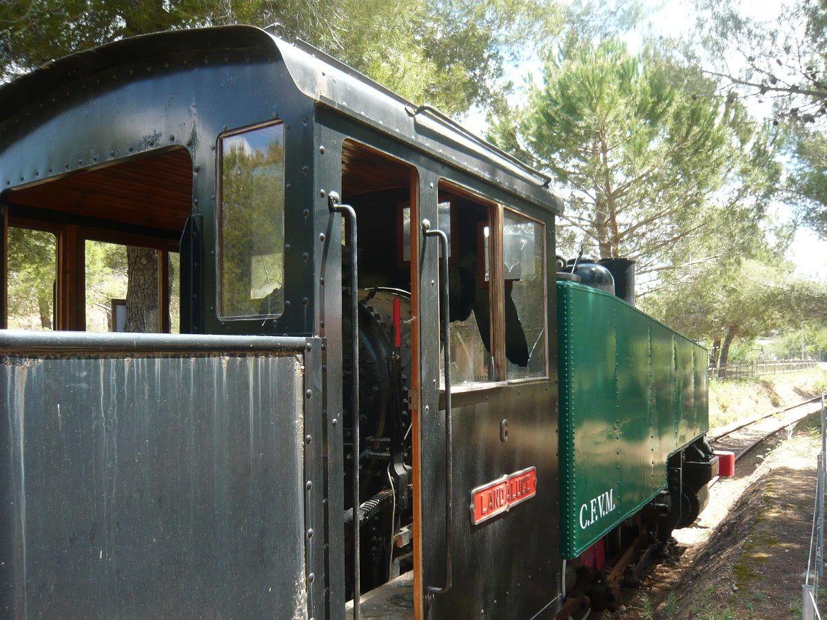 Actos vandálicos contra el museo del parque ferroviario de Marratxí
