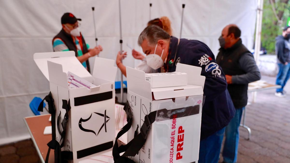 Un colegio electoral en México