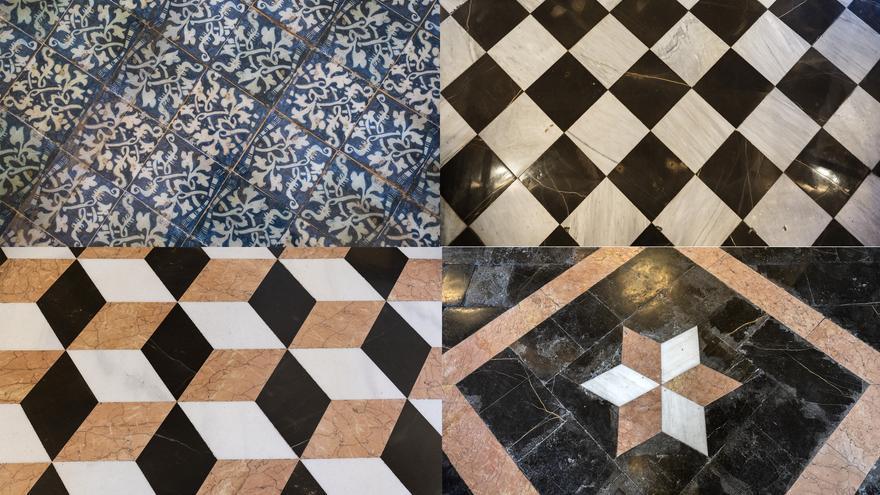 Todos los pavimentos (incluidos los secretos) de La Lonja