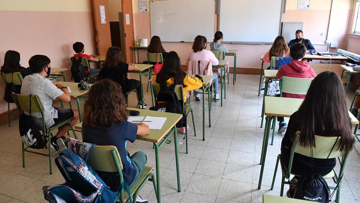 Alumnos en un centro educativo gallego.