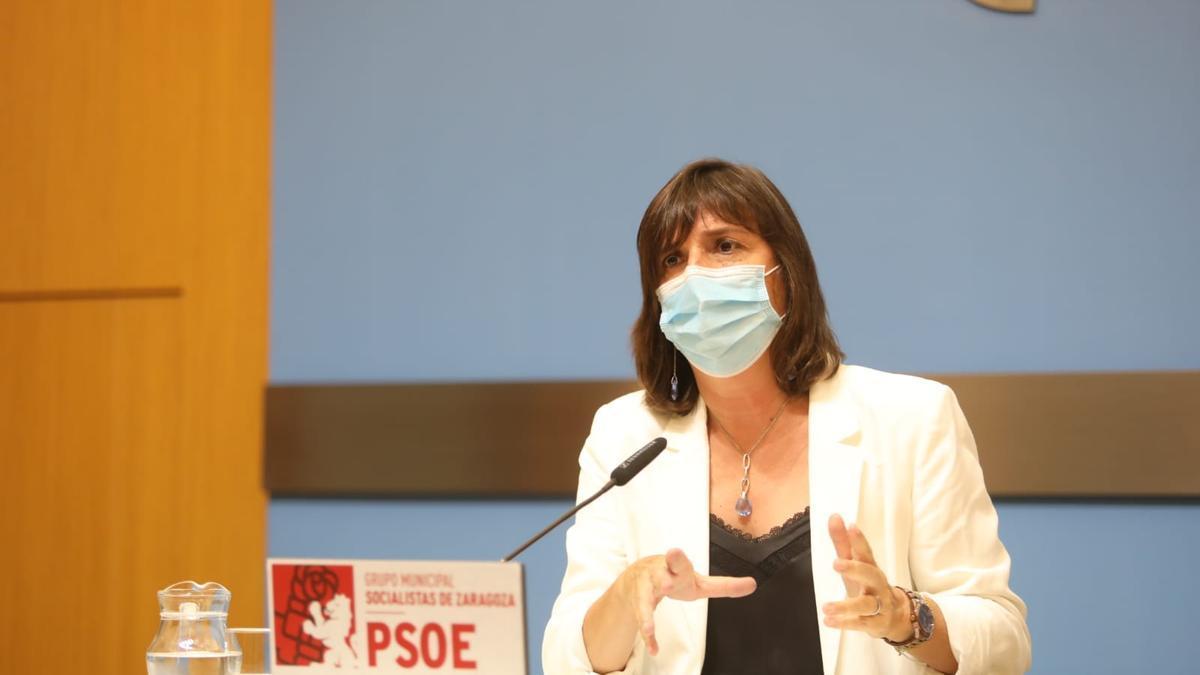 Lola Ranera en la rueda de prensa