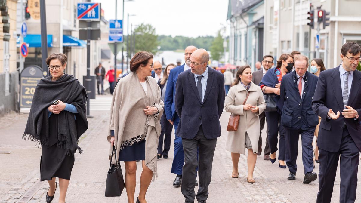 El vicepresidente Igea durante su visita a Finlandia.
