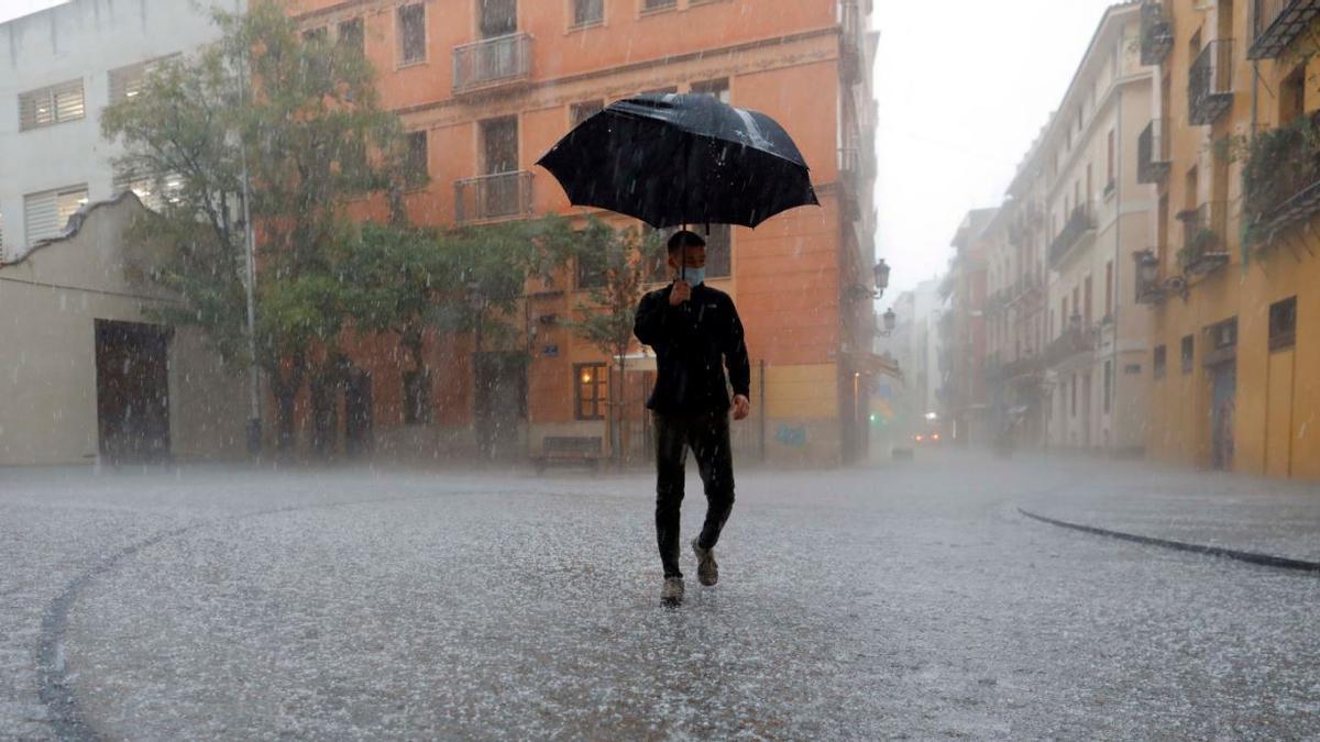 El tiempo en Valencia: la lluvia dará una tregua de varias horas.