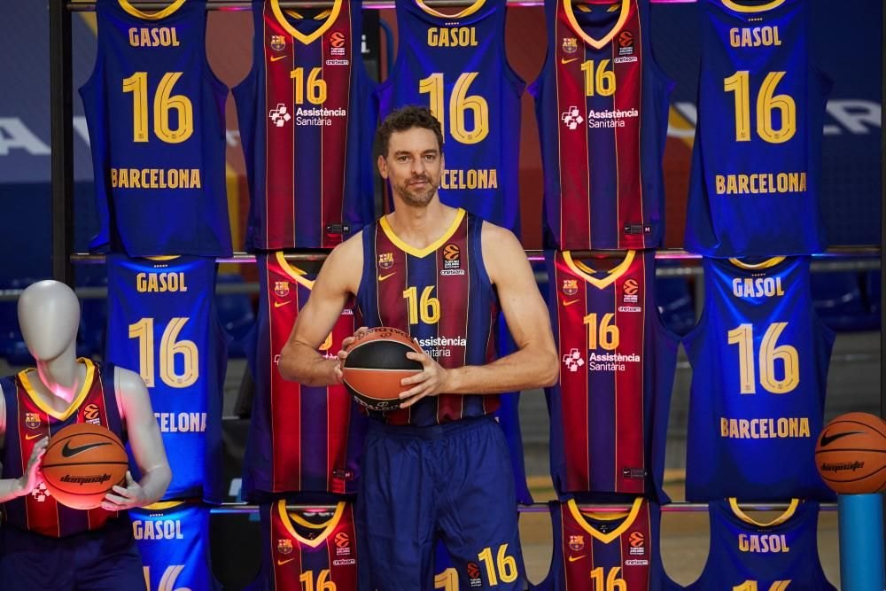 El Barça presenta Pau Gasol