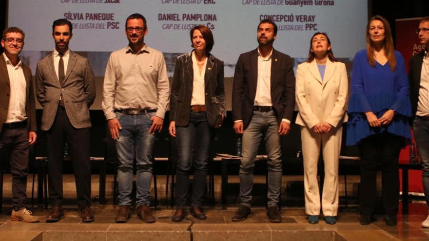 El paper de Girona en el procés independentista marca el primer debat dels candidats a l'alcaldia