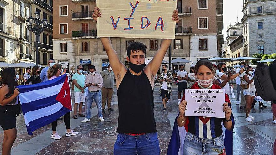 Las protestas de Cuba llegan a València