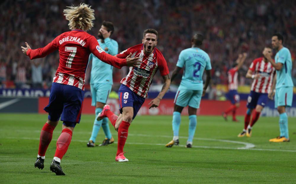 Imágenes del partido entre Atlético y Barcelona.