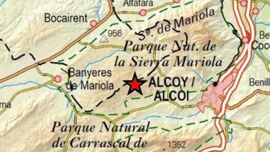 Alcoy registra un pequeño terremoto de dos grados de magnitud