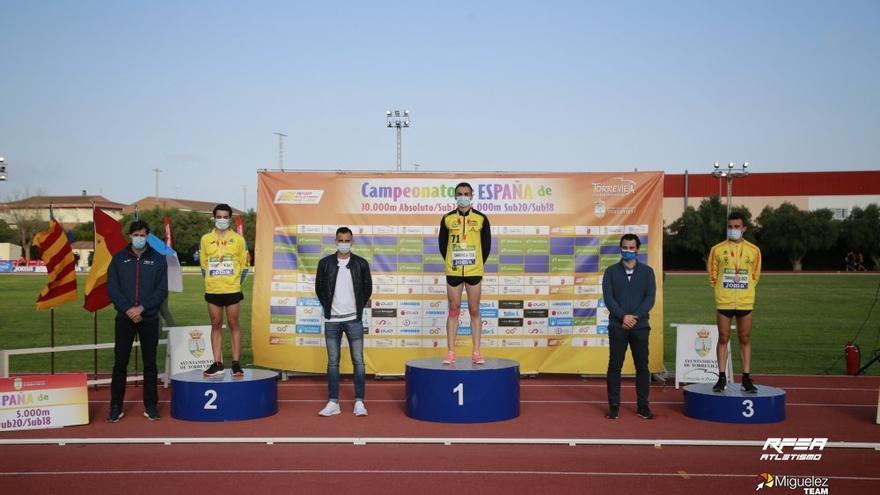 Diego Bravo, subcampeón de España de 10.000 metros lisos