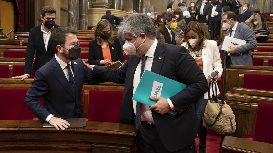 El Parlament investeix Aragonès com a 132è president de la Generalitat amb els vots d'ERC, JxCat i la CUP