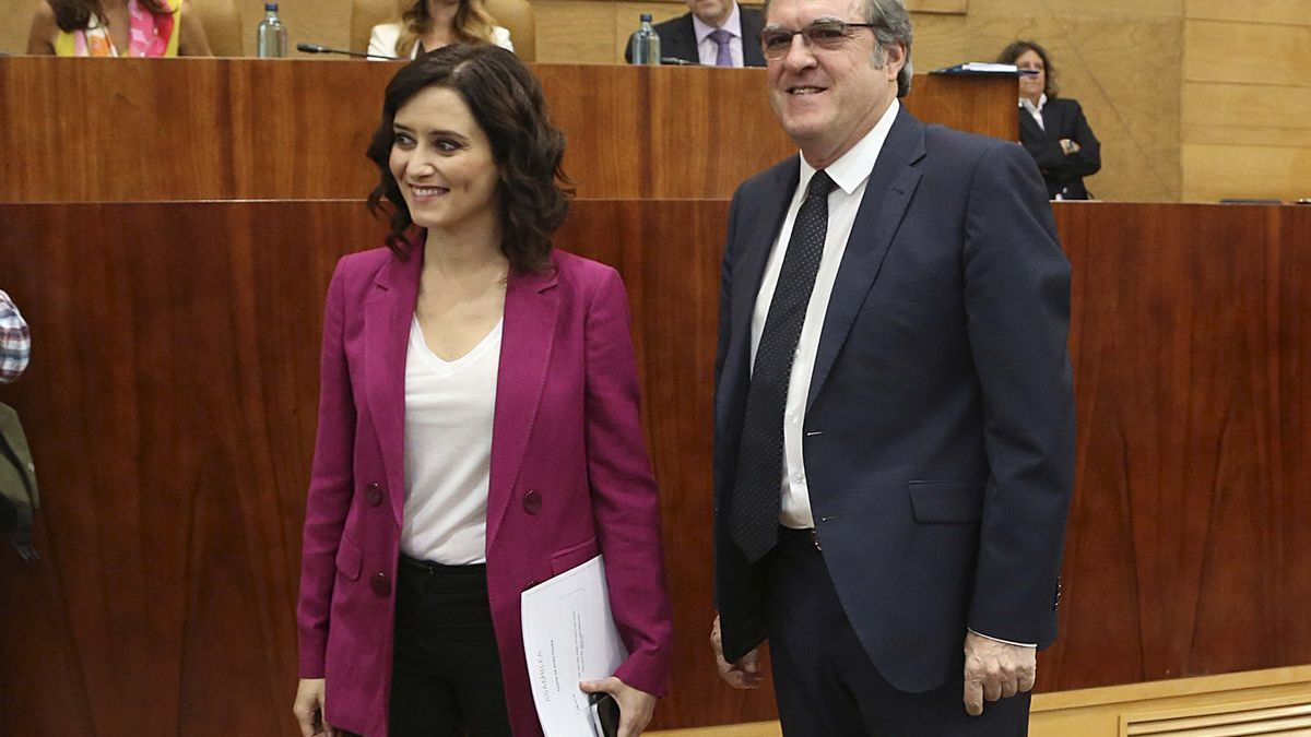 Isabel Díaz Ayuso y Ángel Gabilondo.